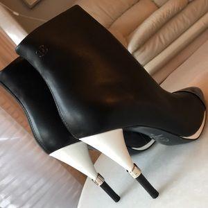 Chanel calfskin booties size 37